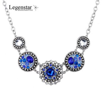 Legenstar Metal Retro Statement Necklace Fit DIY Personality Interchangeable 18MM Button Charms Pendant Necklace Jewlery Gift