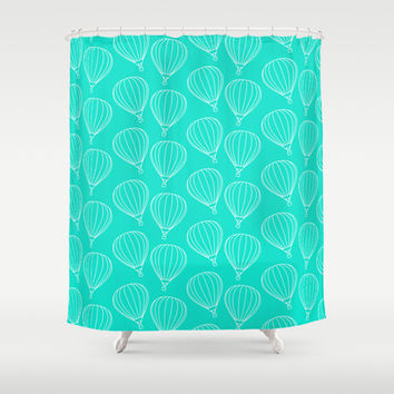 CUTE HOT AIR BALLOONS Shower Curtain by Allyson Johnson | Society6