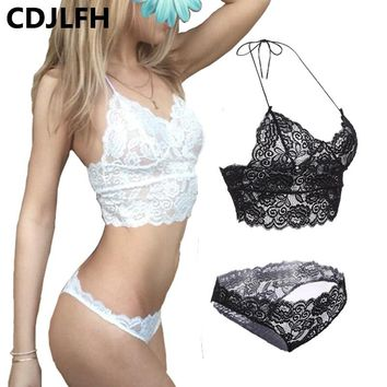 CDJLFH 2017 Hot Women Sexy Lace Bra Set Lace Lingerie Brief Underwear Suit Ladies Bra Set 3 Colors A B C Cup Size