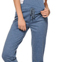 Almost Famous Blue Overall Jogger Pants