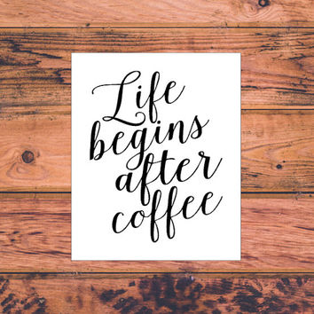 Life Begins After Coffee Decal | Coffee Girl Decal | Coffee Mug Decal | Morning Coffee Decal | Coffee Cup Decal | 253