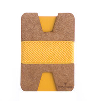 X Wallet Wood #09 - yellow