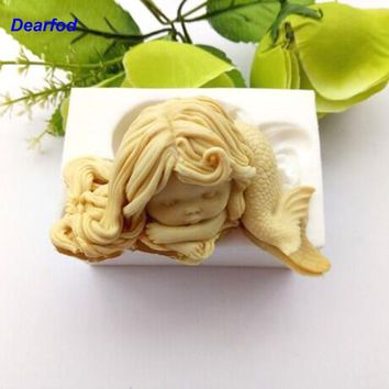 180104 Mermaid Design 2 Silicone Mold for Soap Candle and Chocolate make  Kitchenware  DIY Tool