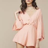 GIA PLAYSUIT DUSTY PINK – WINONA
