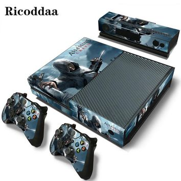 Assassins creed skin sticker For Microsoft Xbox One vinyl cover sticker for xbox one console controle skin for xbox one