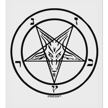 """Sigil of Baphomet 9 x 10.5"""" Rectangular Static Wall Cling by TooLoud"""