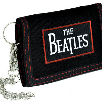 The Beatles Tri-fold Wallet with Chain Alternative Clothing Abbey Road