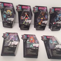 "2016 SET OF 7 Mega Bloks Series 3 Monster High 3"" Figure"