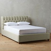 Linen Tufted Lena Bed by Anthropologie