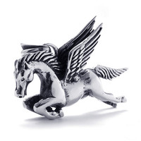 316L Titanium Steel Pegasus Pendant 316L Titanium Steel for Men (PENDANT ONLY)