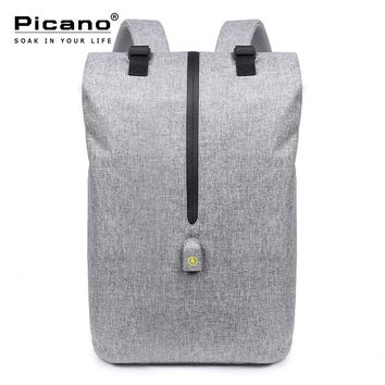 Picano Men Leisure 15.6 Inch Laptop Business Backpack Smart Usb Anti-theft Travel Backpack College Schoolbag Rucksack PCN024