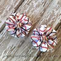 Baseball Mini Jumble Hair Clips