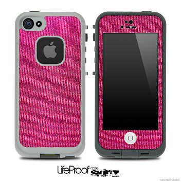 Pink Denim Skin for the iPhone 5 or 4/4s LifeProof Case