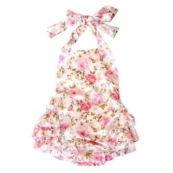 Baby Girls' Ruffles Romper Dress Summer Clothing Rose Flower Lace Rompers Sets Princess One-piece Baby Onesuits Suits Kids Outfits = 1958328068