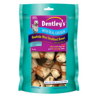 Dentley's® Chicken Small Rawhide Mini Knotted Bones Dog Treat | Bones & Rawhide | PetSmart