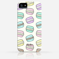 Cute French Macarons Desserts Pattern iPhone 4 Case, iPhone 4s Case, iPhone 5 Case, iPhone 5s Case, iPhone Hard Plastic Case