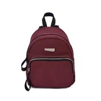 2017 Women Candy Style Solid Backpack Mini Backpack School Bag for Girls mochilas escola