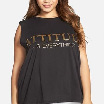 Plus Size Women's CARMAKOMA 'Attitude Is Everything' Tee,