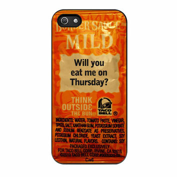 Taco Bell Sauce Fire Mild iPhone 5s Case