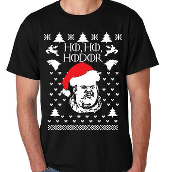 Men's T Shirt Ho Ho Hodor Ugly Christmas Sweater Hodor Holiday