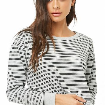 Striped Knit Lounge Top