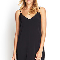 FOREVER 21 Double-V Slip Dress