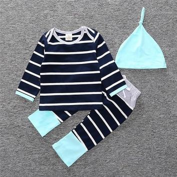 Cute Baby Girl Boy Clothes Deer Tops T-shirt + Pants Leggings 3 pcs. Children's Clothing Set NB Boys