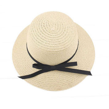 Women Sun Hats Straw Made Bowknot Lady Summer Beach Hat Bohemian Style All Matched Sunhat Sombrero #2415 SM6