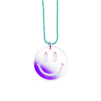 Iridescent Smiley Face Necklace