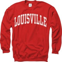 Louisville Cardinals Red Arch Crewneck Sweatshirt