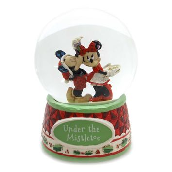 Jim Shore UNDER THE MISTLETOE Glass Disney Showcase 4060275