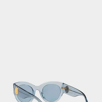 Versace Vintage Blue Tribute Sunglasses for Women | US Online Store