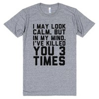 I May Look Calm-Unisex Athletic Grey T-Shirt