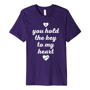Valentine Day Cute Couple Shirt You Hold The Key To My Heart