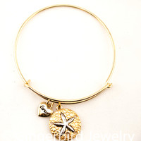 Women's Sand Dollar Bangle Bracelet