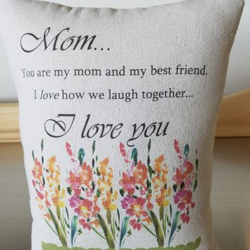 Mom gift pillow mother special occasion gifts cotton cushion