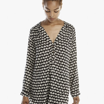 Kissing Elephants Adjustable Tunic in Black & White