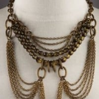 Heirloom Necklace - Necklace - Antiqued Brass Chains - Glass Beads   SoftSurroundings.com