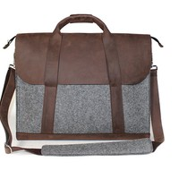 Fox Laptop Bag - Brown