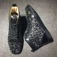 DCCK2 Cl Christian Louboutin Rythinestone Style #1920 Sneakers Fashion Shoes