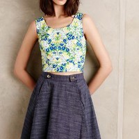 Floria Midi Top by Anthropologie Green Motif