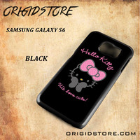 Hello Kitty Snap on 2D Black and White Or 3D Suitable With Image For Samsung Galaxy S6 Case