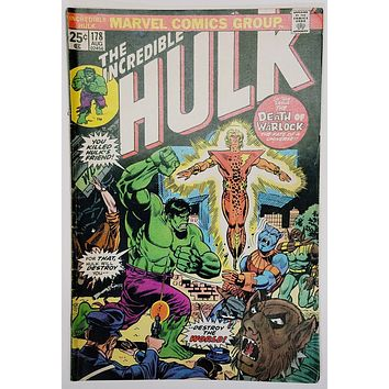 The Incredible Hulk #178 (Marvel 1974) Warlock, Terra-Two. Romita