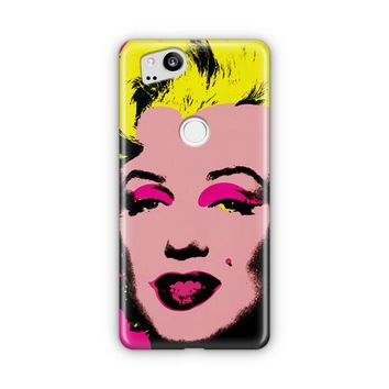 Andy Warhol Marilyn Monroe Pop Art Iconic Colorful Superstar Cute Google Pixel 3 XL Case | Casefantasy