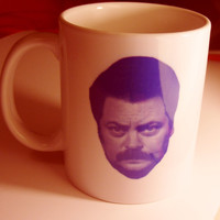 Parks and Recreation Ron Swanson Mug by kookieBazaar on Etsy