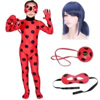 Fantasia Spandex Lady bug for Kid Adult Miraculous Ladybug Costumes Cosplay Bag Girls Children Lady bug Zentai Halloween Costume