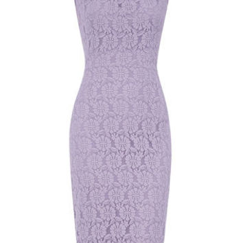Lilac lace pencil dress - Sale & Offers