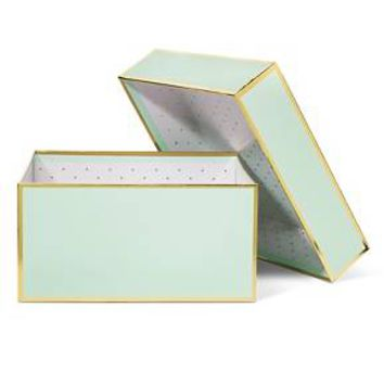 Sugar Paper Mint and Gold Gift Box - Small : Target