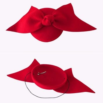 Australian Red Wool Fashion knot Fascinator