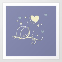Love Birds Art Print by Scribbling Without License